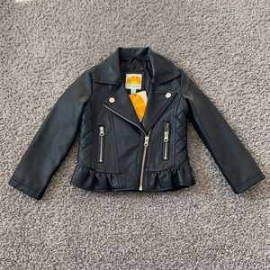 C&C California Faux Leather Jacket Size 3T NWT
